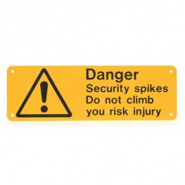 Plastic Danger Signs (Type 1)